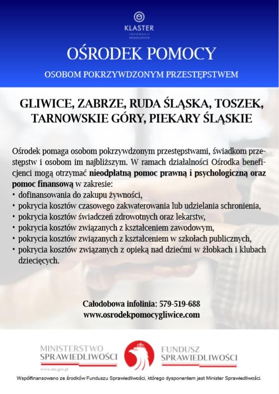 6b3f874c402f95 Ośrodek Pomocy Osobom Pokrzywdzonym Przestępstwem w Gliwicach